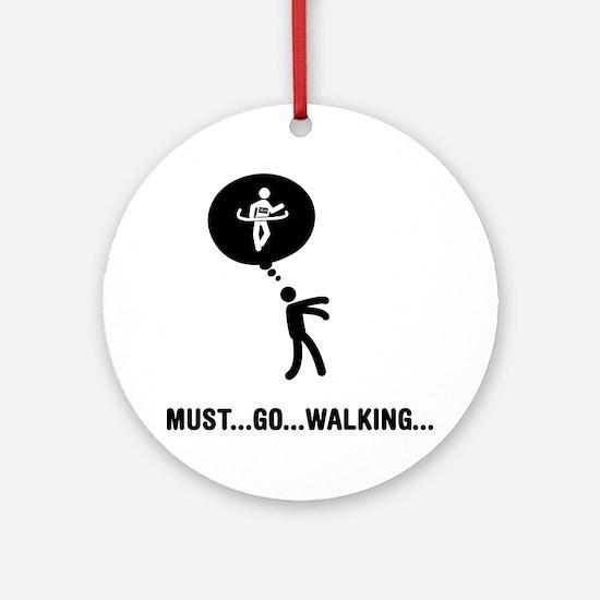 Race-Walking-C Round Ornament