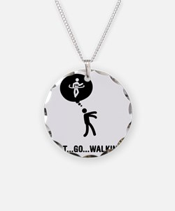 Race-Walking-C Necklace Circle Charm