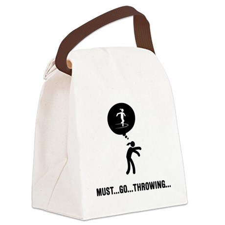 Discus-Throwing-A Canvas Lunch Bag