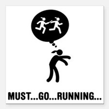 """Relay-Runner-A Square Car Magnet 3"""" x 3"""""""