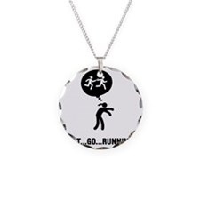 Relay-Runner-A Necklace Circle Charm