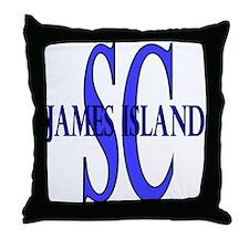 James Island South Carolina Throw Pillow