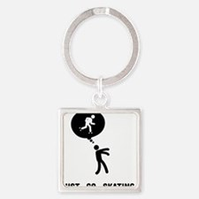 Roller-Skating-C Square Keychain