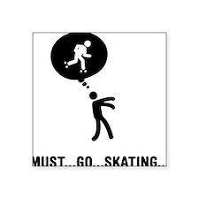"Roller-Skating-C Square Sticker 3"" x 3"""