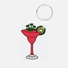 Frogs in Margarita Drink Keychains