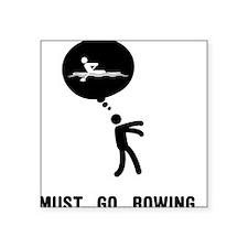 "Rowing-C Square Sticker 3"" x 3"""