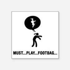 """Footbag-A Square Sticker 3"""" x 3"""""""