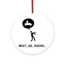 Go-Karting-C Round Ornament