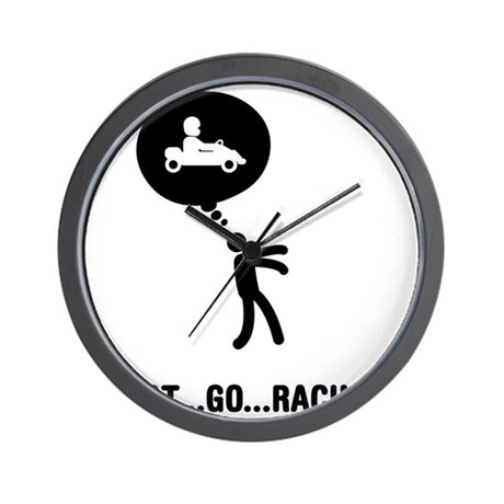 Go-Karting-C Wall Clock
