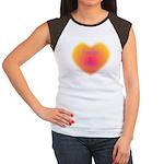 sunshine heart Fueled by Hugs Women's Cap Sleeve T