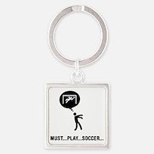 Goalkeeper-C Square Keychain