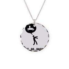 Go-Karting-C Necklace Circle Charm