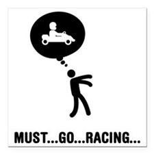 "Go-Karting-C Square Car Magnet 3"" x 3"""
