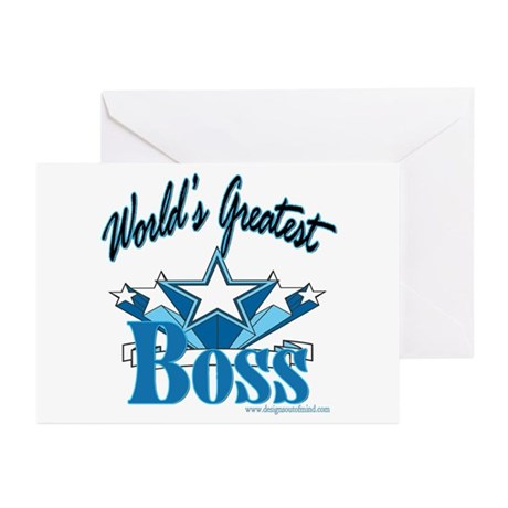 Greatest Boss Greeting Cards (Pk of 10)