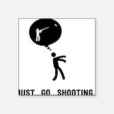 "Skeet-Shooting-C Square Sticker 3"" x 3"""