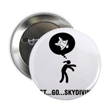 """Skydiving-A 2.25"""" Button"""