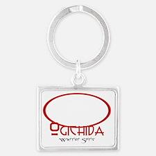 Ogichida Buffalo Logo White Landscape Keychain