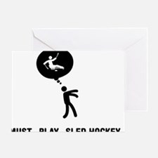 Sled-Hockey-C Greeting Card