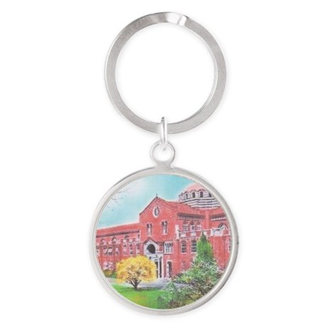 School in color Round Keychain