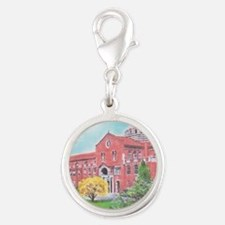 School in color Silver Round Charm