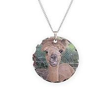 Alpaca Giving Raspberries Necklace
