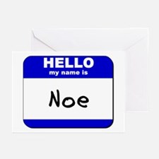 hello my name is noe  Greeting Cards (Pk of 10