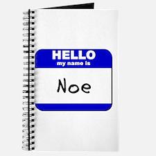 hello my name is noe Journal