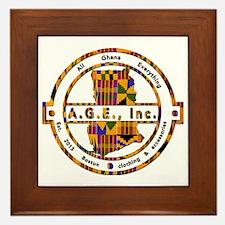 A.G.E., Inc Kente print Logo Framed Tile