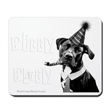 Pitty Party White Words Mousepad