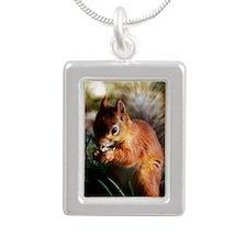 Red Squirrel Silver Portrait Necklace