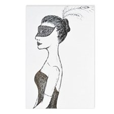 Lady of the Masquerade  Postcards (Package of 8)