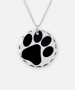 PawPrint Necklace Circle Charm