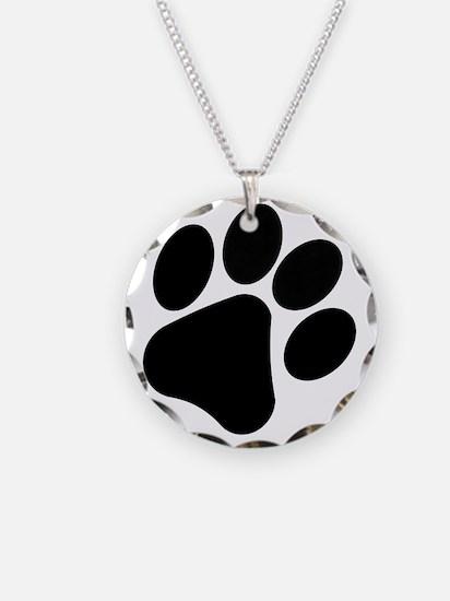 PawPrint Necklace Circle Charm