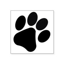 "PawPrint Square Sticker 3"" x 3"""