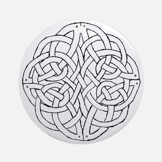 Circular celtic knot Round Ornament