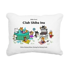 Club Shiba Inu Rectangular Canvas Pillow