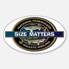 Size Matters Walleye Decal