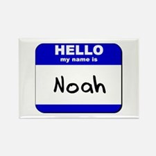hello my name is noah Rectangle Magnet