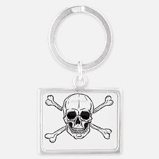 skull and crossbones Landscape Keychain