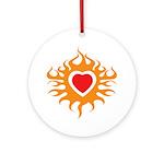 Burning Heart Ornament (Round)