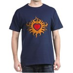 Burning Heart Dark T-Shirt