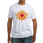 Burning Heart Fitted T-Shirt
