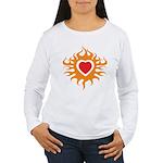 Burning Heart Women's Long Sleeve T-Shirt