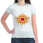 Burning Heart Jr. Ringer T-Shirt