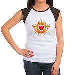 Burning Heart Women's Cap Sleeve T-Shirt