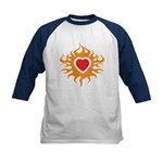 Burning Heart Kids Baseball Jersey