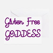 GLUTEN FREE GODDESS Greeting Card
