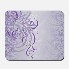 Vintage Rococo Purple Damask Mousepad