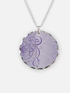 Vintage Rococo Purple Damask Necklace