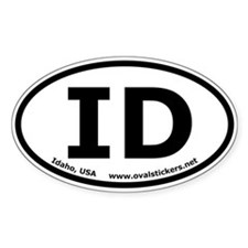 Idaho, USA Oval Bumper Decal